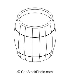 Beer barrel icon, isometric 3d style - Beer barrel icon in...