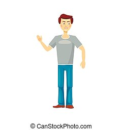 Dad icon in cartoon style on a white background
