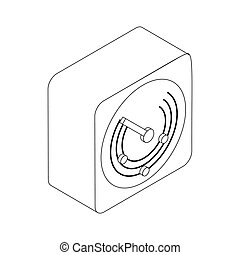 Radio location icon, isometric 3d style - Radio location...