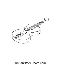 Violin icon, isometric 3d style - Violin icon in isometric...
