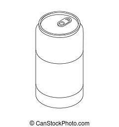 Beer can icon, isometric 3d style - Beer can icon in...