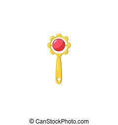 Baby rattle beanbag icon, cartoon style - Baby rattle...