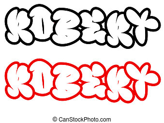 the name Robert in graffiti style