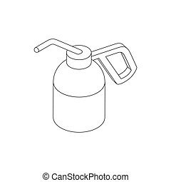 Dioxide bottle for paintball icon, isometric 3d - Dioxide...