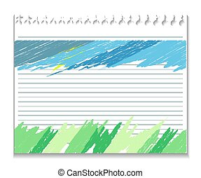 painted background - vector blue background, in pencil with...