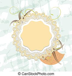 openwork - Delicate vintage lace background with pastel...