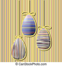 eggs - Vintage background with Easter eggs. Vector...