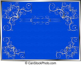blue certificate - vector blue and silver background...