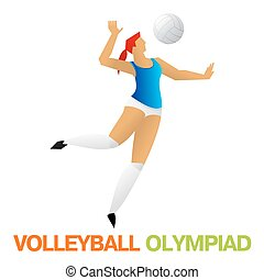 Olympic games. Volleyball - Olympiad volleyball player. The...
