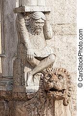Cathedral of Ferrara Italy - Ferrara Emilia-Romagna, Italy -...