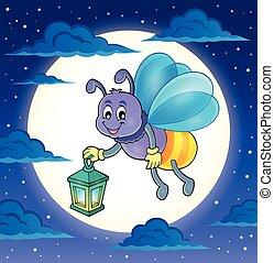 luciole, à, lanterne, thème, image, 4,