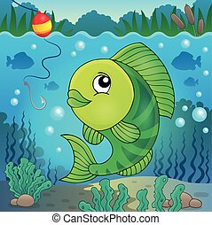 Freshwater fish topic image 5 - eps10 vector illustration