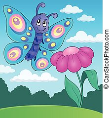 Happy butterfly topic image 5 - eps10 vector illustration.