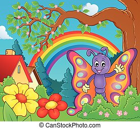 Cheerful butterfly theme image 3 - eps10 vector illustration...