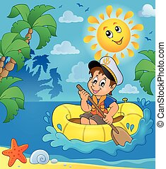 Little sailor theme image 2 - eps10 vector illustration.