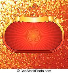 Bright Retro Gold Sign