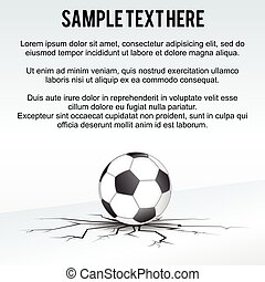 Soccer Ball Background Vector - Soccer Ball Background Ready...