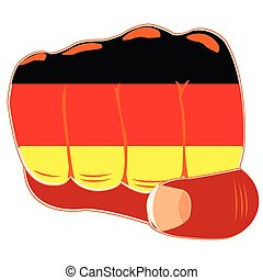 Flag of the germany on fist