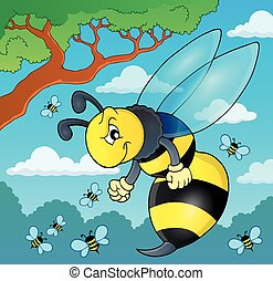Wasp theme image 2 - eps10 vector illustration