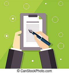 Signing The Contract Illustration