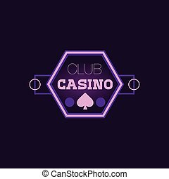 Hexahedron Casino Purple Neon Sign Las Vegas Style...