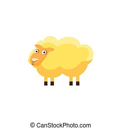 Sheep Simplified Cute Illustration