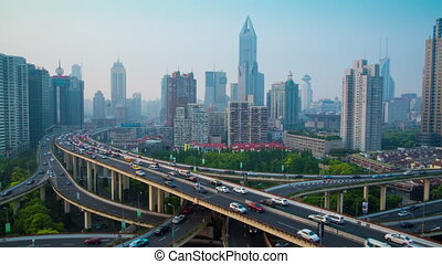 Shanghai Yanan Road overpass - Shanghai city center...