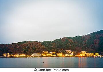 YAMANASHI, JAPAN - NOVEMBER 22: Kawaguchiko in Yamanashi,...