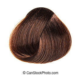lock of hair color on a white background isolated