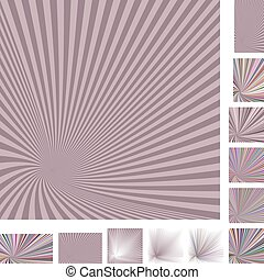 Retro spiral background set - Retro vector spiral design...