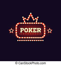 Crowned Poker Neon Sign Las Vegas Style Illumination Bright...