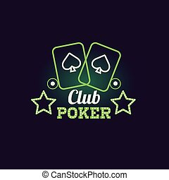 Green Poker Club Neon Sign Las Vegas Style Illumination...