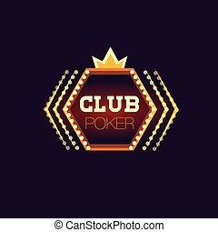 Crowned Poker Club Neon Sign Las Vegas Style Illumination...