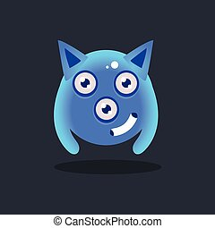 Blue Alien With Pointy Ears