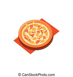 Ham and pineapple pizza Vector Clipart EPS Images. 54 Ham ...