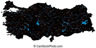 Map of Turkey - A large and detailed map of Turkey
