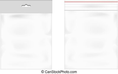 Plastic bag icon transparent background vector illustration...