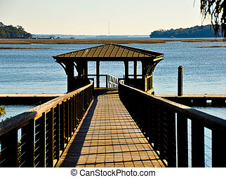 Boat Dock at Palmetto Bluff - boat dock