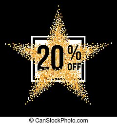 Golden Star Discount - Golden Star and Frame with Discount...