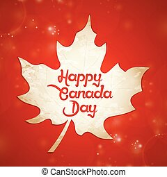 Canada Day Abstract - creative vector abstract for Canada...