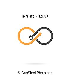 Infinite repair logo elements design.Maintenance service and...