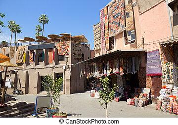 Souks textile Marrakech