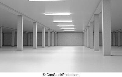 Underground parking area. 3d render image