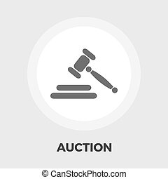 Auction flat icon - Auction gavel icon vector Flat icon...