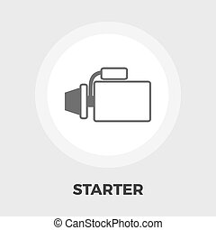 Automotive starter flat icon - Automotive starter icon...