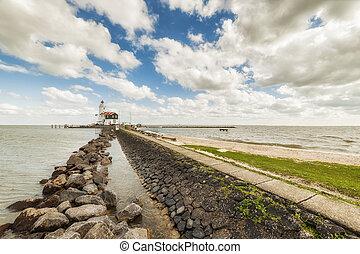 Landscape with Lighthouse - Landscape with lighthouse on...