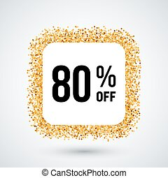 Golden Frame with Discount Eighty Percent for Design