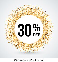 Golden Frame - Golden Circle Frame with Discount Thirty...