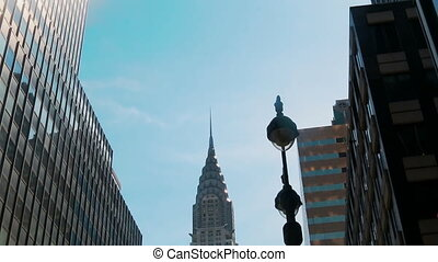 Chrysler Building New York, Low angle shot of camera...