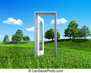 Nature collection - Door to success - Remarkable abstract 3d...